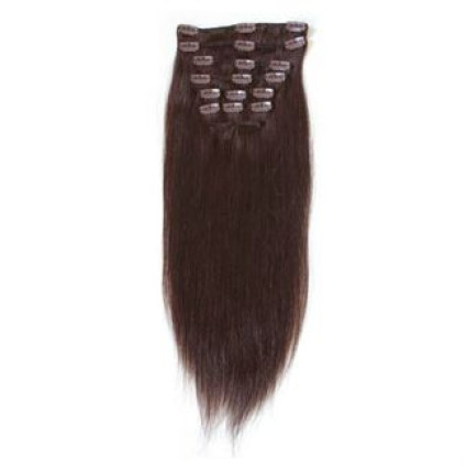 Clip on hair Hair extension 50 cm 2# Dark Brown
