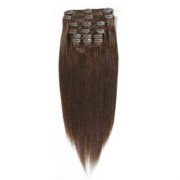 Clip on hair extensions  65 cm 4# Brown