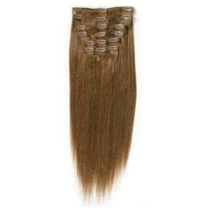 Clip on hair extenions 65 cm 6# Light Brown