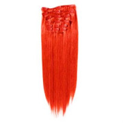 Clip on Hair Extensions 65 cm Total red