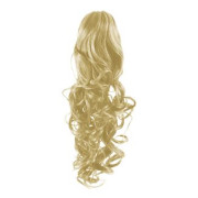Pony tail Fiber extensions Curly Blonde 613#