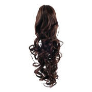 Pony tail Fiber extensions Curly brown 4#