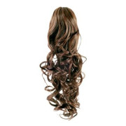 Pony tail Fiber extensions Curly light brown 6#