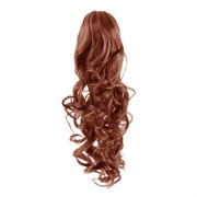Pony tail Fiber extensions Curly red 33#