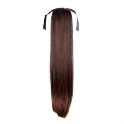 Pony tail Fiber extensions Straight brown 4#