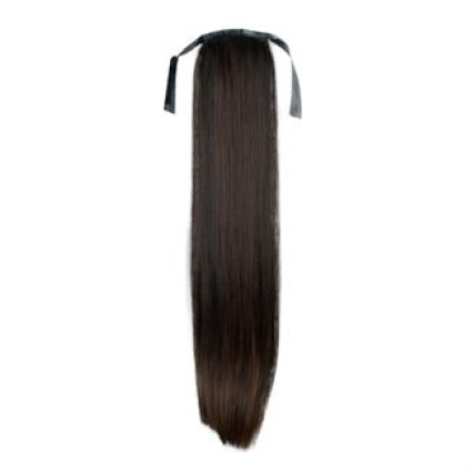 Pony tail Fiber extensions Straight Darkbrown 2#