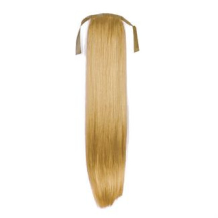 Pony tail fiber extensions straight Middle Blonde 27#