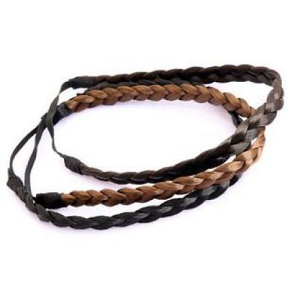 Hair band hair elastic with twisted Fake hair