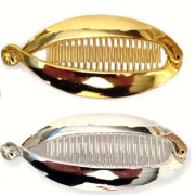 Hair clips Fish - Gold or Silver