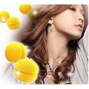 Hair Sponge curler balls 6pcs yellow
