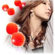 Hair Sponge curler balls 6pcs red