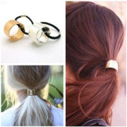 Haircuff - Pony Tail Cuff in Metal. Gold or silver