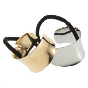 Haircuff - Ponytail holder Metal Wrap style Gold or Silver