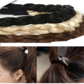 Pony O - Hair elastic with twisted fake syntetic hair - Many colors