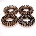 Pony O Spiral Hair elastics Brown 4pcs